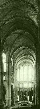 Earthlore Gothic Architecture Quadripartite Rib Vault Of Nave At St Denis Paris